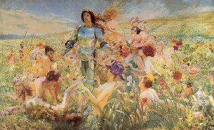 Georges Antoine Rochegrosse, The Knight of the Flowers (or Parsifal), 1894